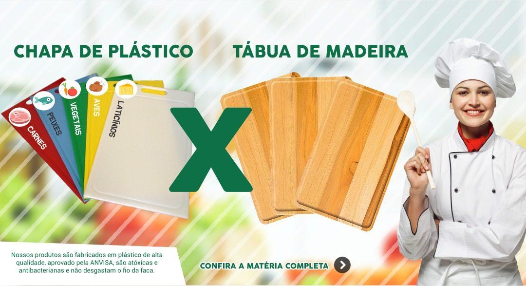 Chapa de Corte de Plástico x Tábua de Corte de Madeira